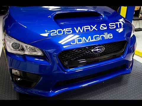 Subispeed Jdm Front Grille Install 2015 Subaru Wrx And