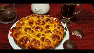 ТВОРОЖНЫЙ БУЛОЧНЫЙ ПИРОГ Cottage cheese pie Bun pie