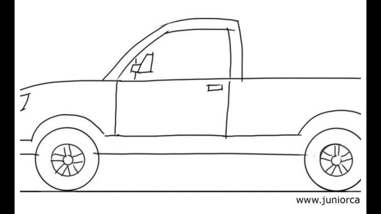 Uncategorized Easy To Draw Truck how to draw 1 truck youtube