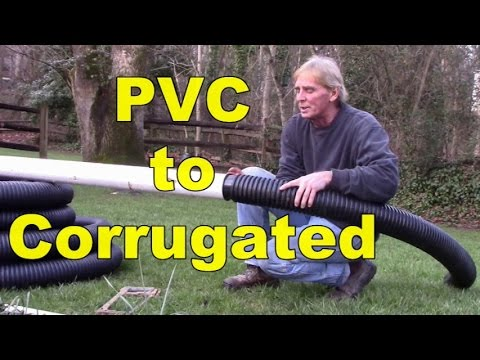 How To Connect Pvc To Corrugated Pipe Youtube
