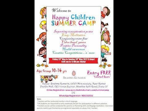 2017 Children summer camp @ Mira Society Brahma Kumaris Rajyoga centre