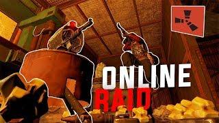 Rust - ONE V.S. THREE ONLINE RAID (Rust Solo Survival) [PART 2/2]