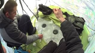Зимняя рыбалка в палатке, тарань в Каирской балке(Клев был средний, отлично провели время., 2017-01-29T12:49:20.000Z)
