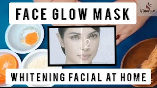Best Face Glow Mask Mask for Damage skin Whitening challenge Whitening Facial at home