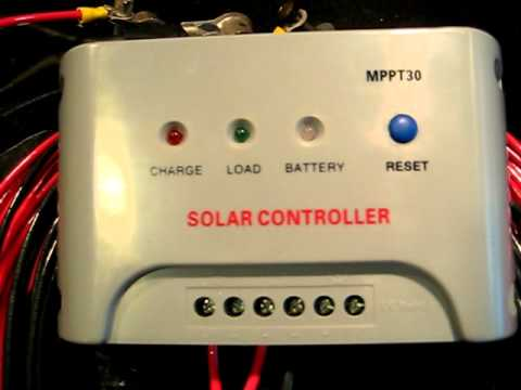 Harbor Freight Solar Panels MPPT Charge Controller - YouTube