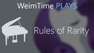 """WeimTime Plays"" - Rules of Rarity - MP3 Download"
