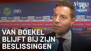 Van Boekel legt uit: 'Het is heel ongelukkig, dus doorspelen' | EREDIVISIE INTERVIEWS