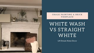 How to paint a brick fireplace (white wash vs straight white)