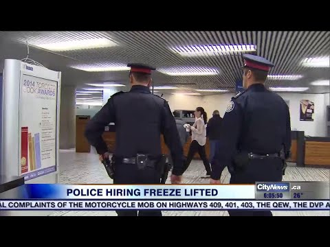 Police hiring freeze lifted, force will add as many as 80 officers in 2017