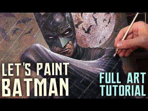 ART TUTORIAL - FULL PAINTING PROCESS - BATMAN