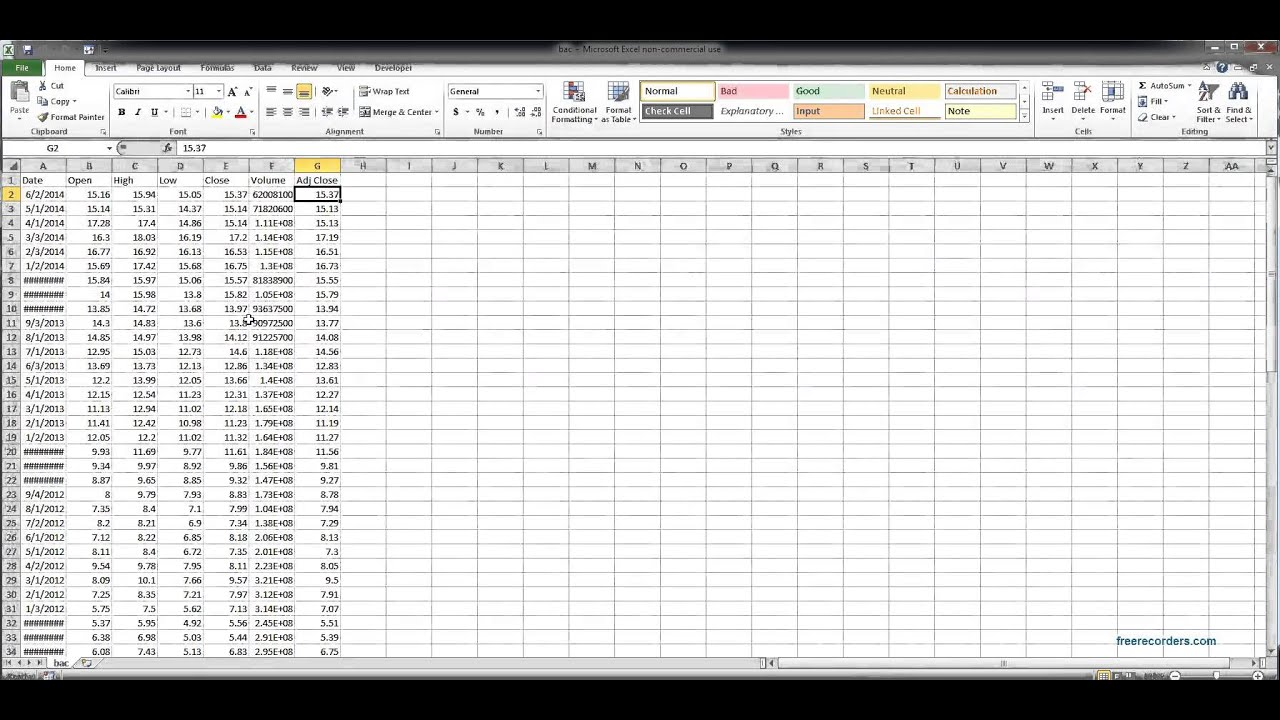 Excel Yahoo Finance Stock Data Import Youtube