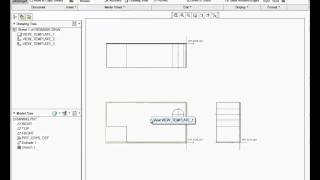 Creo tutorial creating drawing templateformat with title