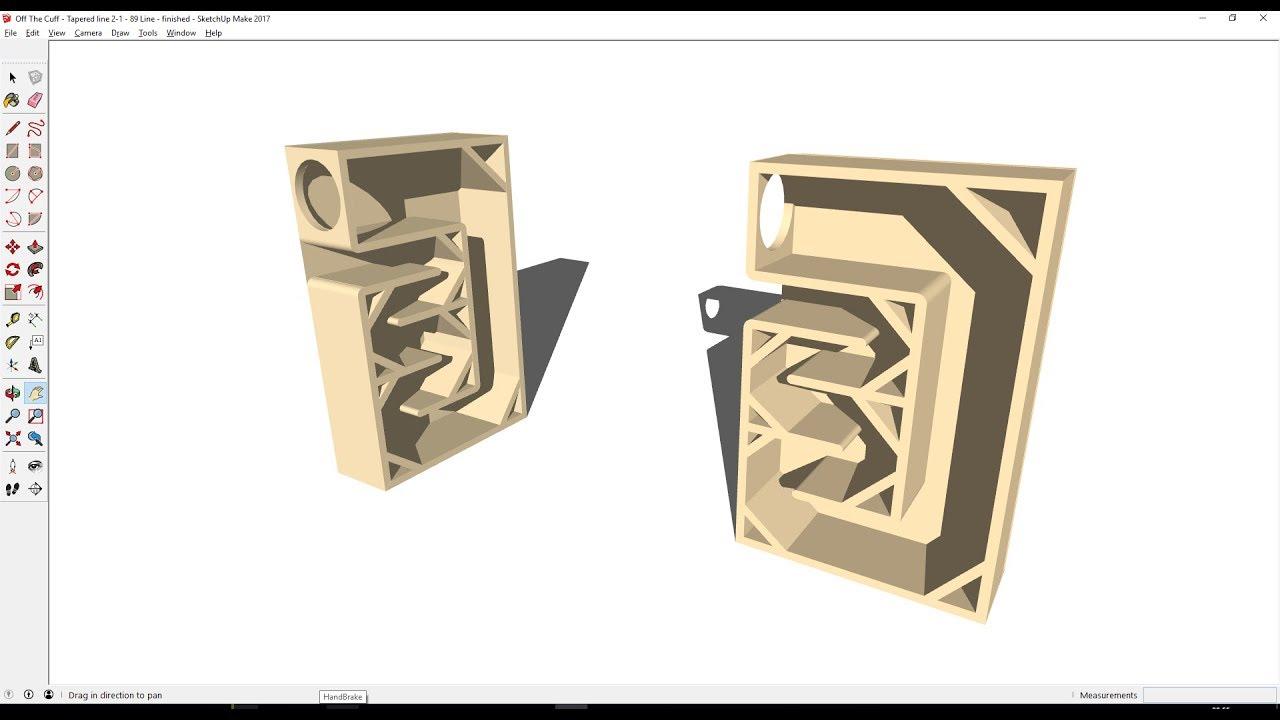 Off The Cuff Transmission Line Speaker Design - Sketchup
