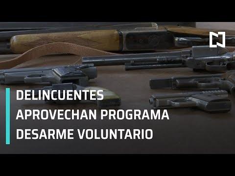 Programa desarme voluntario; delincuentes entregan armas de fuego - En Punto con Denise Maerker