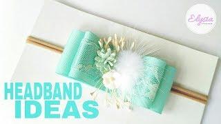 Headband Ideas : Another Bow Headband DIY by Elysia Handmade