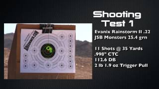 Evanix Rainstorm Part 2 - Testing Heavier Pellets at Range, by AirgunWeb