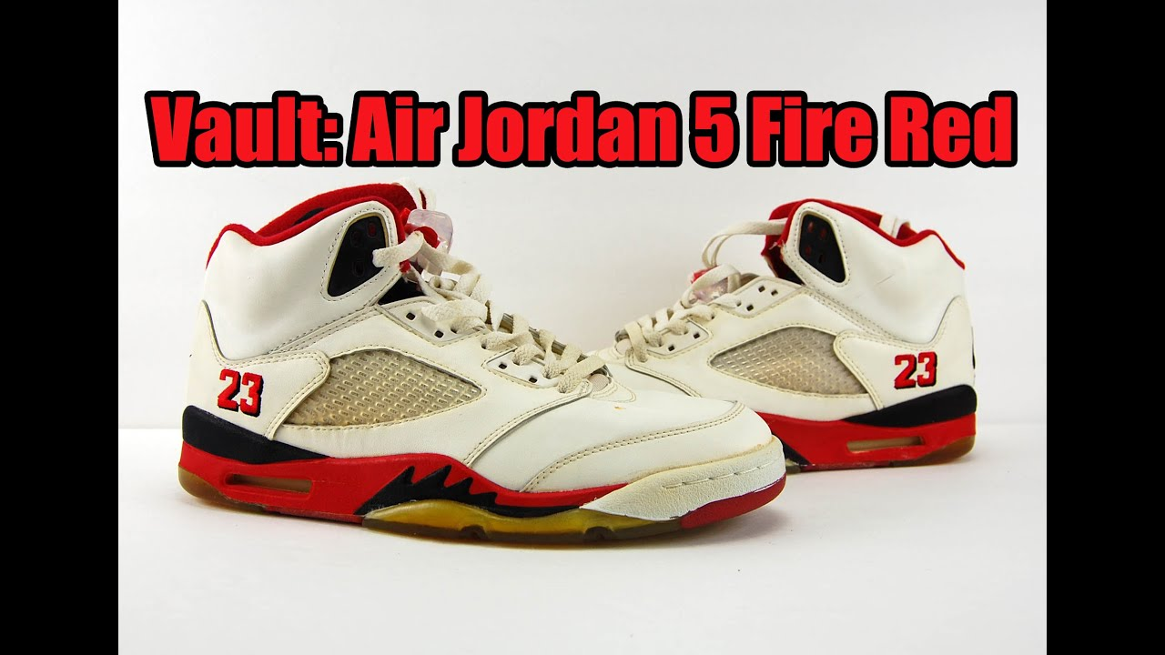 b1c65d088de Vault: Air Jordan 5 Original (OG) Fire Red 23 1990 - YouTube