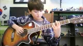 Mission Impossible (미션 임파서블) - Fingerstyle Guitar - Sungha Jung Cover Movie Guitar kid