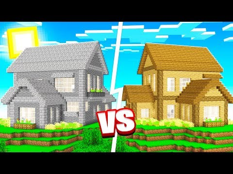 1 Color House Minecraft Build Challenge Youtube