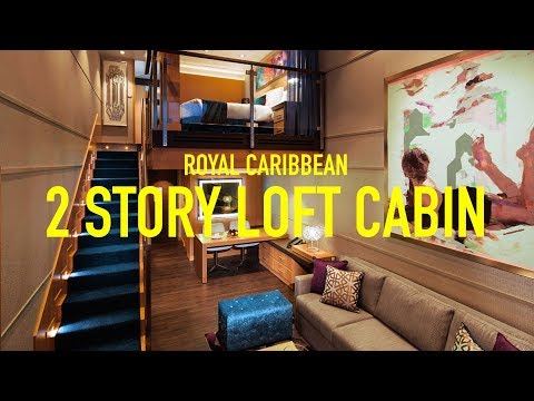 ROYAL CARIBBEAN CRUISE SHIP TOUR! Two Story Oasis of the Seas Crown Loft Suite