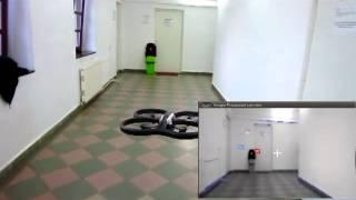 Ar Drone autonomous hallway flying - MSc demo at RRG/TUCN