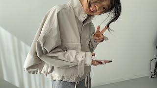 여자봄코디 니트원피스 숏야상자켓 | 사색 쇼핑몰 촬영 …
