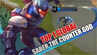 How to become MLBB Pro: Saber The Counter King - Top 1 Global Saber Build - Mobile Legends