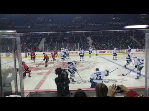 Vancouver Canucks Vs Calgary Flames Warm up Feburary 19 2016