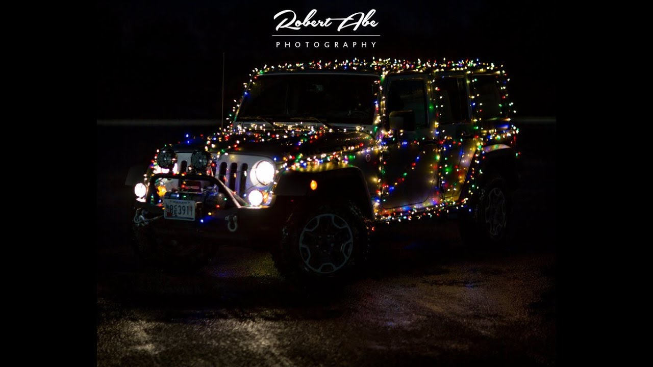 2017 Jeep Wrangler Rubicon >> Bob's Jeep Christmas Lights 2017 - YouTube