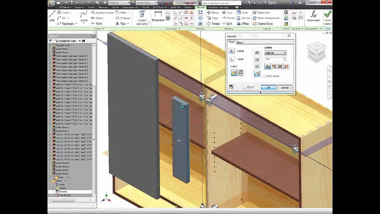 Autodesk Inventor Woodworking 3 Part Tutorial
