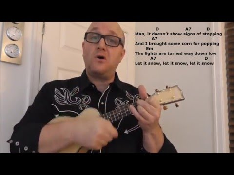 Dean Martins Let It Snow Ukulele With Lyrics And Chords Jez