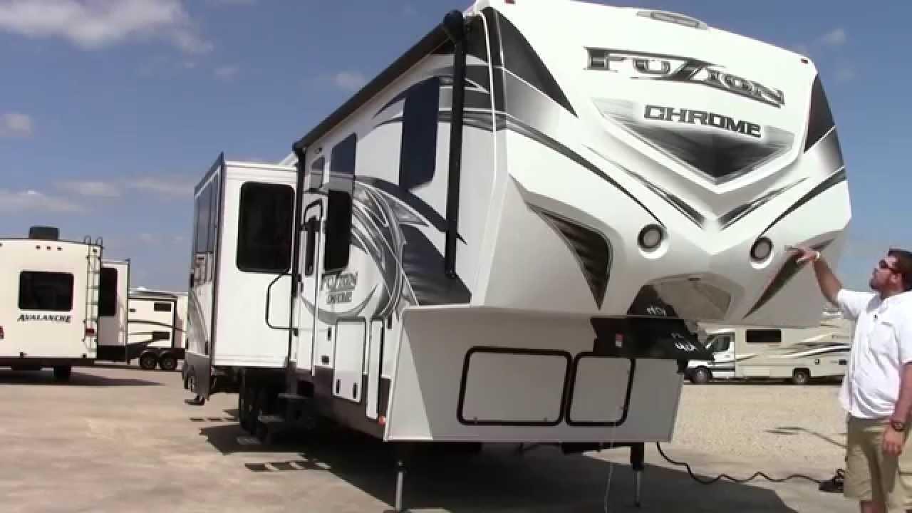 Fuzion Toy Hauler >> New 2014 Keystone Fuzion Chrome 401 Fifth Wheel Toy Hauler - Houston,Dallas & Las Cruces - YouTube