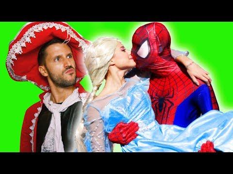 Frozen Elsa vs. Spiderman Super Fun Surprise Challenge