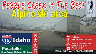 Pebble Creek is The Best Alpine ski area in the Western United States
