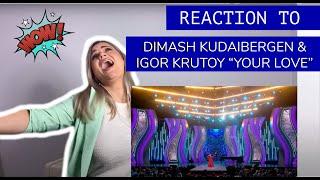 """Voice Teacher Reacts to DIMASH KUDAIBERGEN & IGOR KRUTOY """"YOUR LOVE"""" (premiere)"""