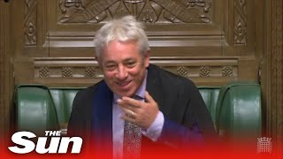 Banter ensues after Bercow loses his voice