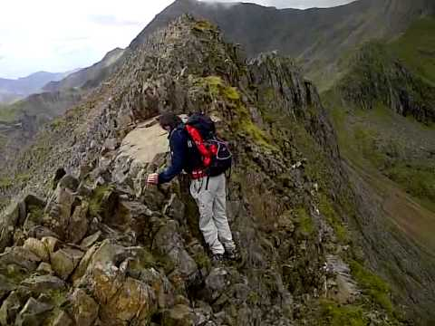 Filming And Balancing On The Knife Edge Crib Goch Route