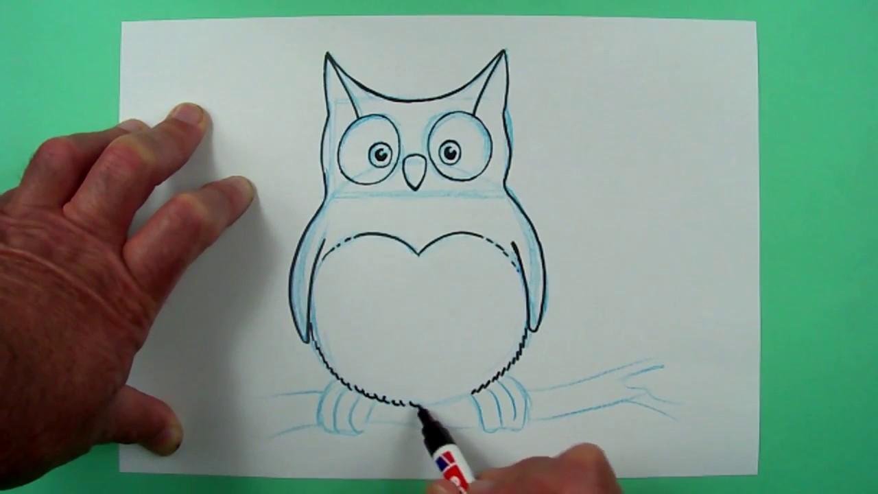 Kleine Eule Ganz Einfach Gezeichnet Zeichnen Fur Kinder Youtube
