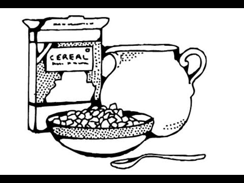 bowl of cereal coloring pages - photo#13