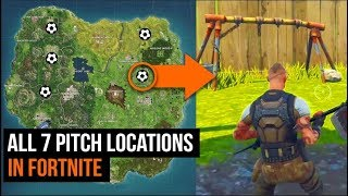 ALL 7 Pitch Locations in Fortnite - Season 4 Challenges