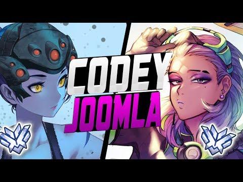 CODEY BEST SOMBRA AND JOOMLA PRO WIDOW! BEST DUO? [ OVERWATCH SEASON 7 TOP 500 ]