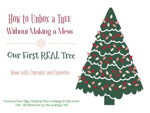 how to unbox a real christmas tree with green valley christmas trees
