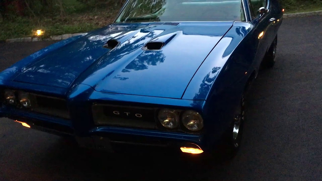 1968 Pontiac GTO For Sale~PHS Certified~400~4 Speed~Electric Blue