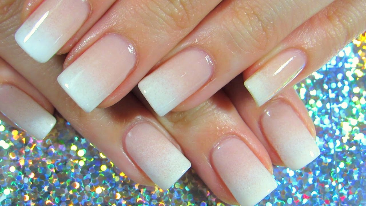 Perfect French Fade - Natural Nail | ImGirlYouDontKnow - YouTube