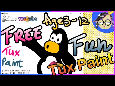 How To Download Tux Paint And Rubber Stamps (for Beginners) English | FREE Drawing Software For Kids