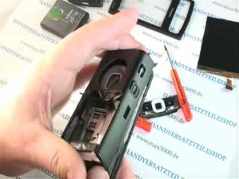 Reparaturanleitung Nokia N95 8GB Display Oberschale Lautsprecher wechseln austauschen repariren.wmv
