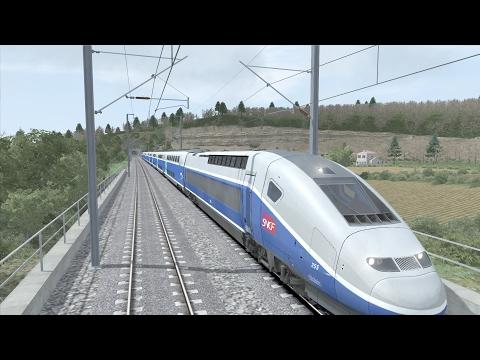 Train Simulator 2017 - TGV Duplex - Tren de Alta Velocidad en FRANCIA - Marsella a Aviñon