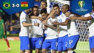 Brasil golea en la inauguración | Brasil 3 - 0 Bolivia | Copa América - Grupo A | Televisa Deportes