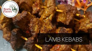 SPICY MARINATED LAMB KEBABS RECIPE | BY HEARTY FLAVORS