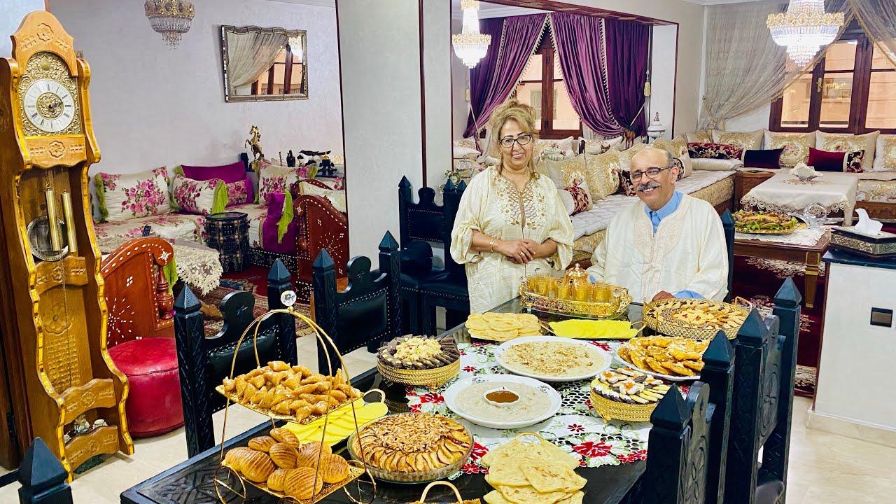 فطور العيد و حتى الغذاء مع ملكة البسطيلة مليكة بوبكري بالاشتراك مع زوجها /كاين شي فطورالحلقة الأخيرة